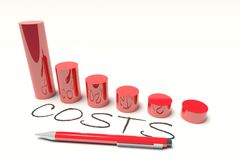 Costs  diagram Royalty Free Stock Photography