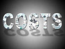 Costs Dollars Means United States And Balance Stock Images