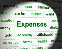 Costs Expenses Represents Price Financial And Balance. Expenses Costs Indicating Business Pay And Budgeting Stock Photos