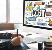 Costs Finance Banking Money Cash Flow Concept Royalty Free Stock Images