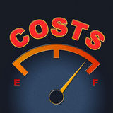 Costs Gauge Means Display Bills And Finances Royalty Free Stock Images