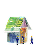Costs of house repairs royalty free stock image