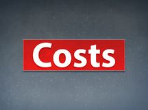 Costs Red Banner Abstract Background. Costs Isolated on Red Banner Abstract Background illustration Design stock illustration