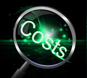 Costs Magnifier Represents Magnification Price And Expenditure Stock Photography
