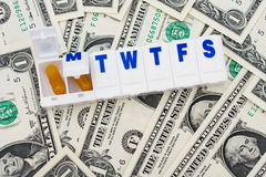 Costs of Medication Stock Photos