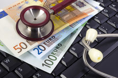 Costs of medicine Royalty Free Stock Images