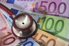 Costs of medicine Stock Photo