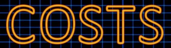 Costs neon sign stock illustration