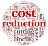 Costs reduction concept Royalty Free Stock Photo