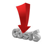 Costs Reduction Concept Royalty Free Stock Image