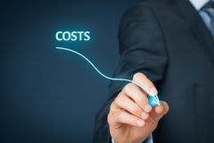 Costs reduction Royalty Free Stock Photography