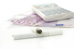 Costs of smoking Royalty Free Stock Image