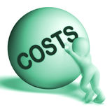 Costs Sphere Means Expenses Price And Outlay Royalty Free Stock Photos