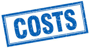 Costs stamp Royalty Free Stock Image