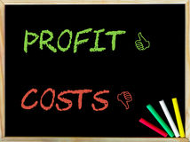Costs versus Profit Royalty Free Stock Photography