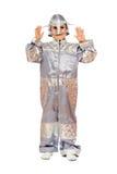 costume мальчика астронавта Стоковые Фотографии RF