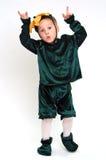 costume мальчика гримасничая стоковые фото