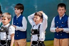 Costume allemand de représentation de garçon Image libre de droits