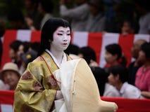 Costume autentico alla parata di Jidai Matsuri, Giappone del kimono immagini stock