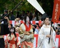Costume authentique de kimono au défilé de Jidai Matsuri, Japon Photographie stock
