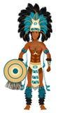 Costume aztèque de carnaval illustration de vecteur