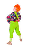 Costume Carlson, holiday clown. A man dressed Carlson, a clown with a propeller. White background. Studio photography Stock Images