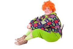 Costume Carlson, holiday clown Royalty Free Stock Images