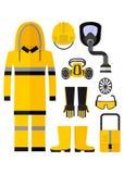 Costume chimique de protection de vêtements de travail Photo stock