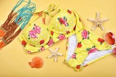 Costume da bagno di estate, modo sexy del bikini Fotografia Stock Libera da Diritti