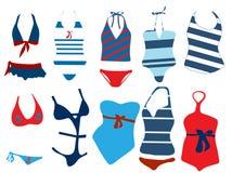 Costume da bagno differente Fotografia Stock Libera da Diritti