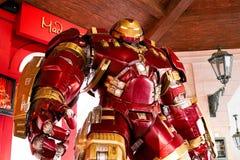 Costume de Buster Iron Man de carcasse au musée de Madame Tussauds Image libre de droits