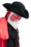 Costume de carnaval de l'Italie Venise d'un vénitien noble antique Image libre de droits