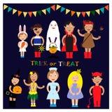Costume de Halloween d'enfants ENV 10 illustration de vecteur
