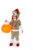 Costume de Halloween de singe de chaussette Image stock