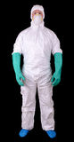 Costume de Hazmat Photos stock