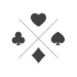 Costume de jouer l'icône de cartes Photo libre de droits