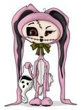 Costume de lapin de zombi Photographie stock libre de droits