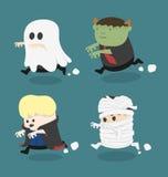Costume de monstre de Halloween illustration de vecteur