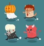 Costume de monstre de Halloween illustration libre de droits
