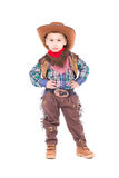 Costume de port de cowboy de petit garçon Photo stock