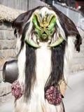 Costume de Raditional Tschaggatta dans Wiler image libre de droits