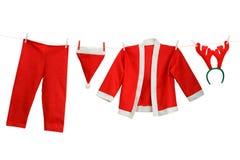 Costume de Santa Photographie stock libre de droits