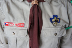 Costume de scout Photographie stock