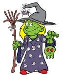 Costume de sorcière de Veille de la toussaint Photos stock