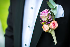 Costume decoration for the groom royalty free stock image