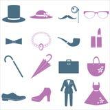 Costume del signore e di signora royalty illustrazione gratis