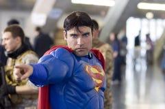 Costume del superman Fotografie Stock Libere da Diritti