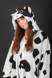Costume della mucca Immagini Stock Libere da Diritti