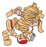 Costume della mummia di Halloween Fotografie Stock