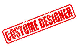 Costume Designer red stamp text Royalty Free Stock Images